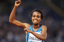 Genzebe Dibaba was victorious in Oslo Norway, but fell short of breaking her sister Tirunesh&#82 ...