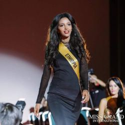Ethiopia's Selamawit Teklay at Miss Grand International 2017