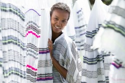Ethiopian-born supermodel Liya Kebede Discusses Lemlem's New Home Goods Collaboration