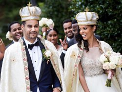 American woman marries Ethiopian prince in lavish wedding (photos)