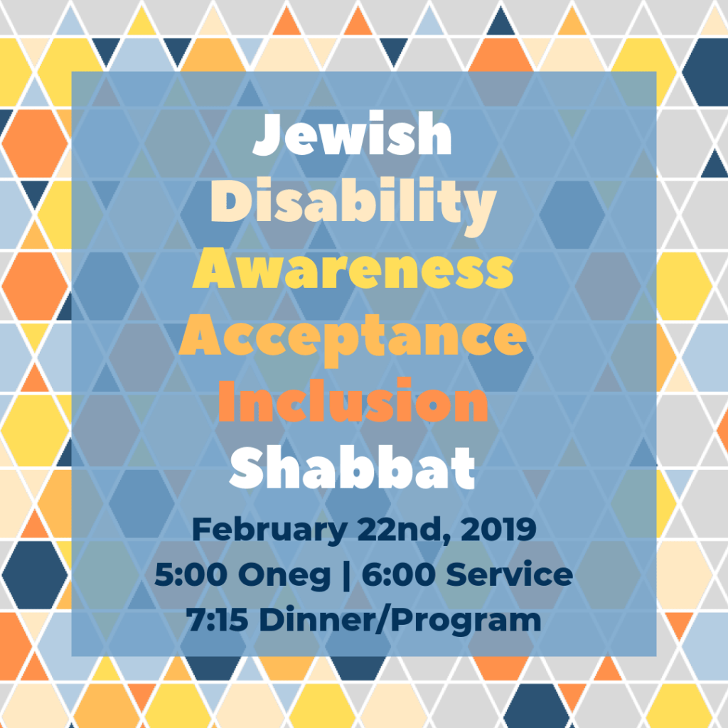 Jewish Disability Awareness Acceptance Inclusion Shabbat