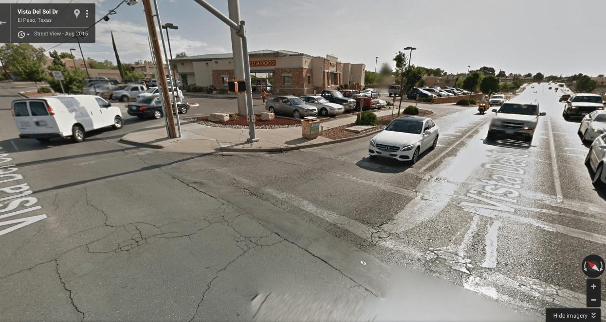Pedestrian crossing at Lee Trevino Drive