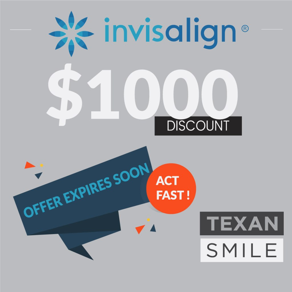 Texan-Smile-Dentist-Sugar-Land-77479-Invisalign-$1000-off