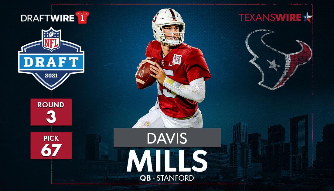 2021 NFL Draft: Texans pick Stanford QB Davis Mills No. 67 in Round 3