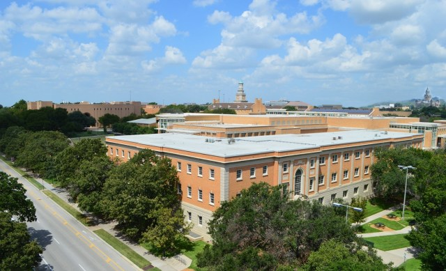 View of Denton Texas from the University of North Texas Campus, Photo by Rebecca Barham.