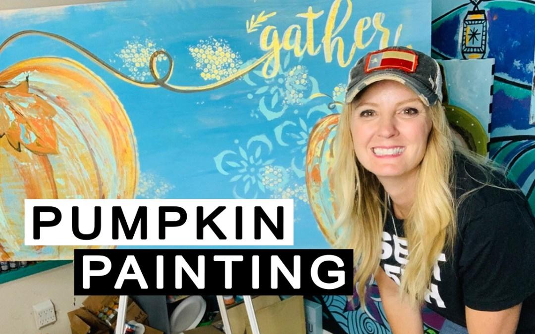 giant pumpkin painting