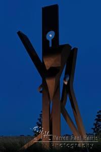 Full Moon Through Sculpture