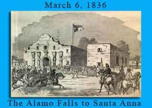 Alamo Falls to Mexican Army