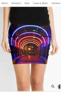 Dallas West End Rainbow Neon Pencil Skirts