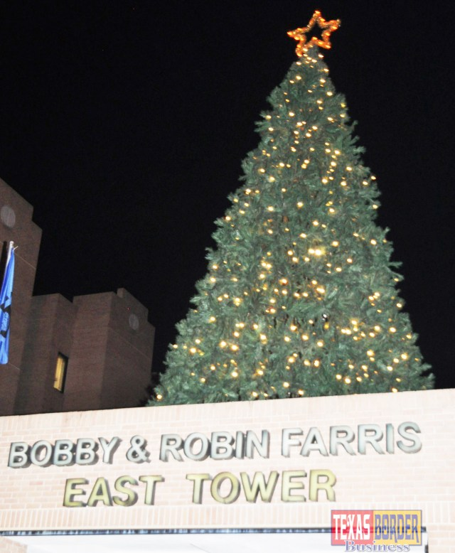 "A giant Christmas tree will be lit with the flip of a switch at the annual ""Lights for Life"" celebration outside Valley Baptist Medical Center in Harlingen."
