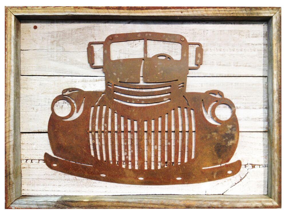 Old Truck Rustic Metal Wall Art