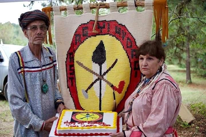 Ugu Ron Trussell and Tribal Secretary Linda Trussell