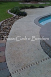 Concrete Cleaning Texturing & Staining Before Image