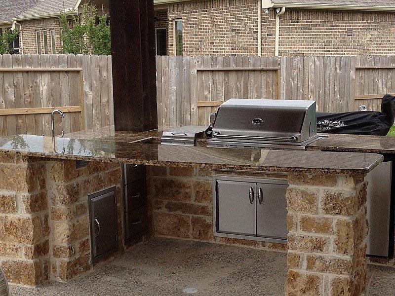 Summer Kitchen Texas Custom Granite