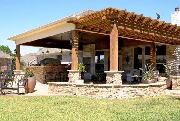 outdoor living space ideas for patios Heritage Grand/Cinco Ranch Outdoor Living Room - Texas