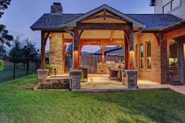 texas outdoor living covered patios Outdoor Fireplaces, Fire Pits, Houston, Dallas, Katy