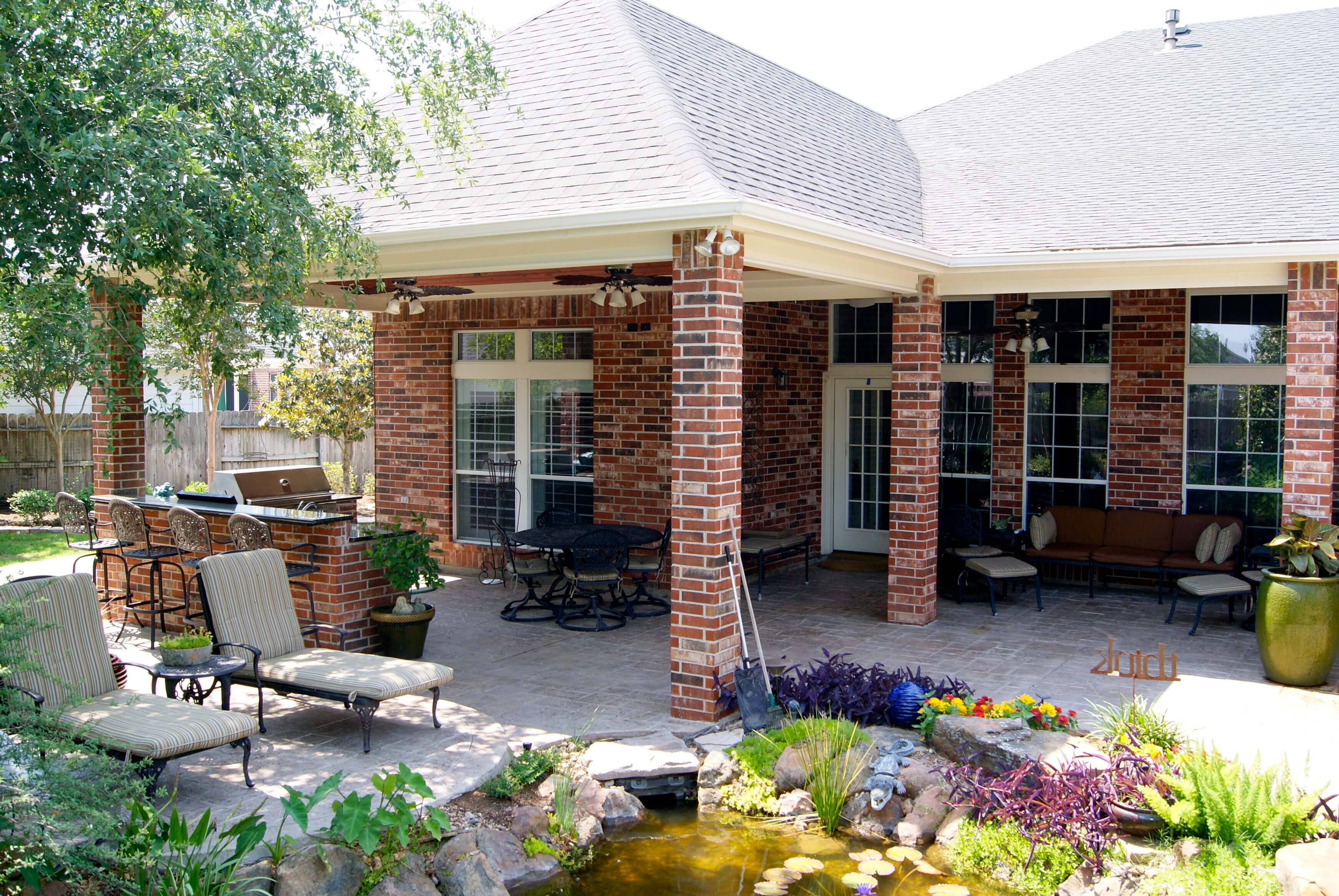 Patio Cover and Outdoor Kitchen In Waterside Estates ... on Outdoor Kitchen Patio id=75685
