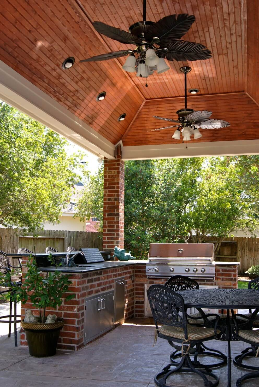 Patio Cover and Outdoor Kitchen In Waterside Estates ... on Outdoor Kitchen Patio  id=69497