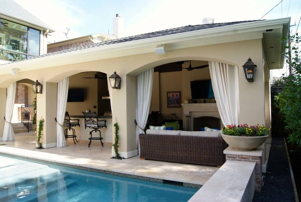 Freestanding Loaded Pool Cabana - Texas Custom Patios on Cabana Designs Ideas id=82515