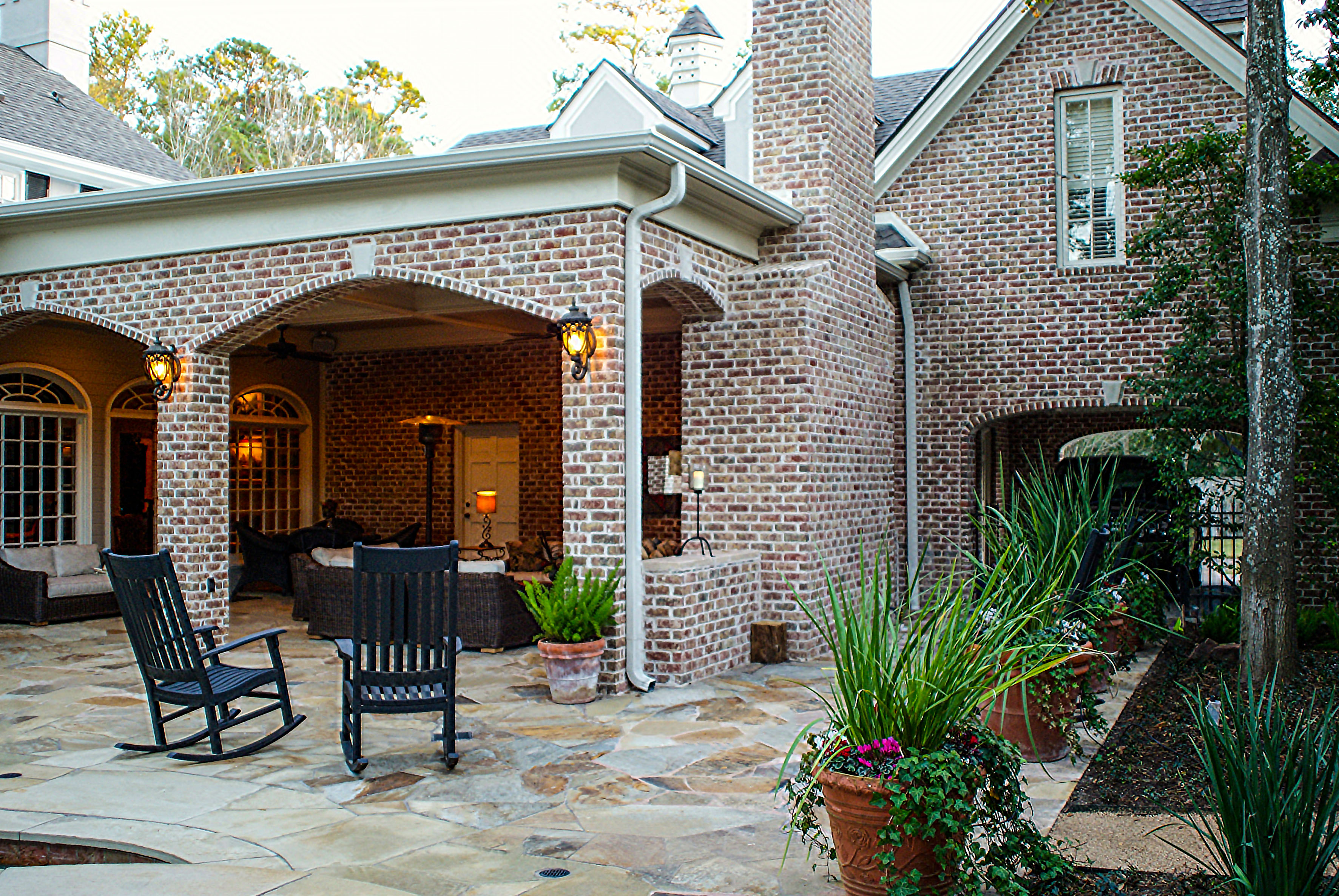 New Outdoor Living Room Solves Drainage Problem - Texas ... on Custom Outdoor Living id=94941