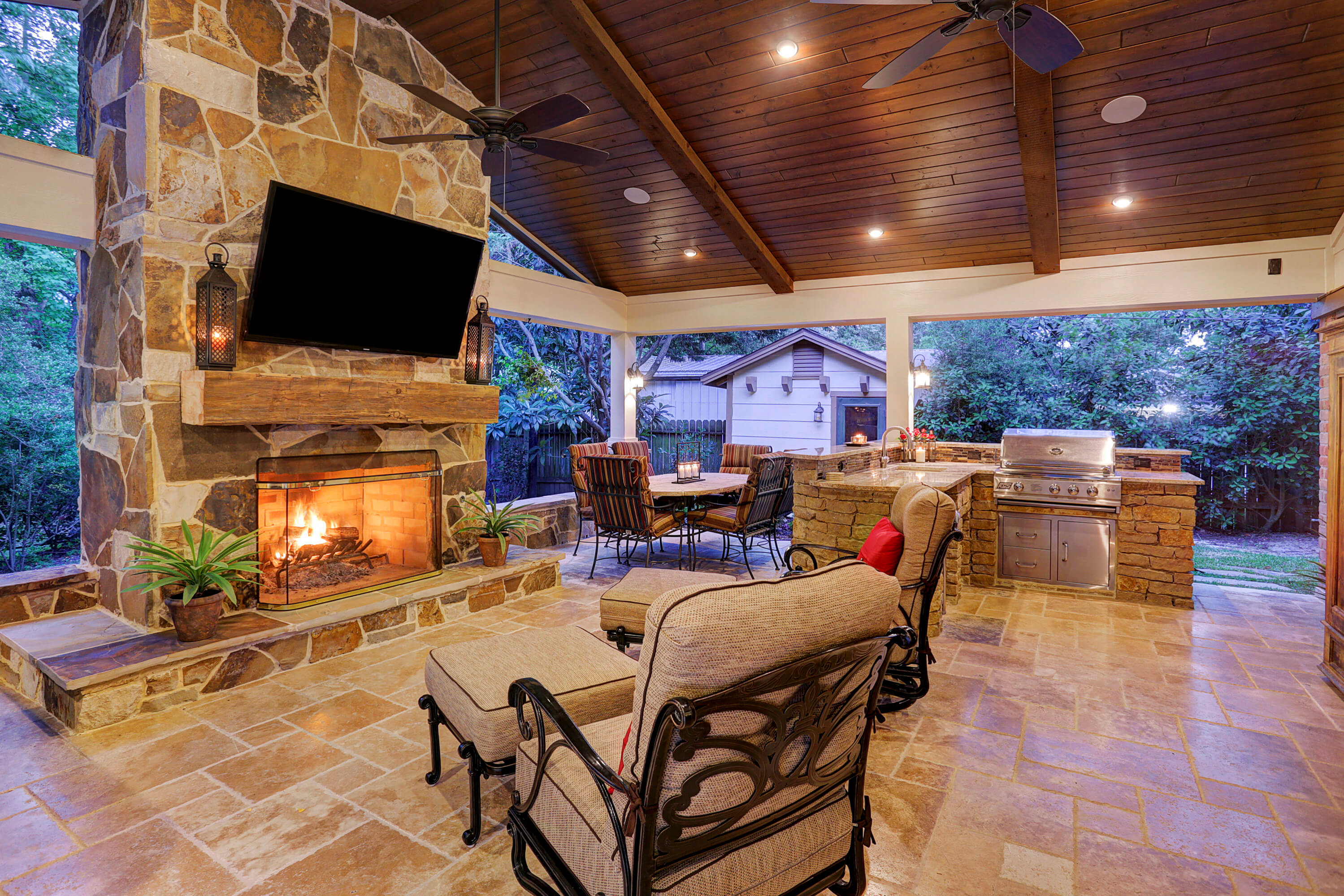 Outdoor Living in Briar Forest Area - Texas Custom Patios on Doobz Outdoor Living id=42760