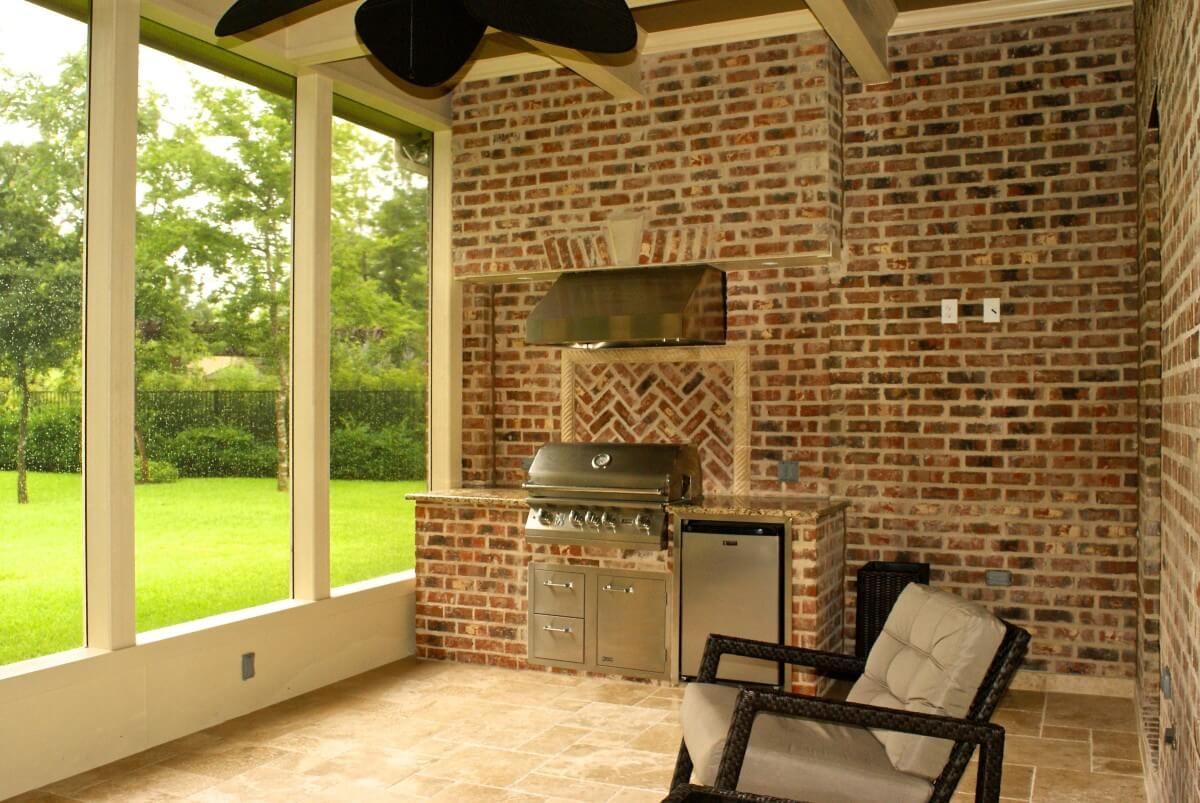 Screened Porch in Sienna Plantation - Texas Custom Patios on Outdoor Kitchen Patio  id=94123