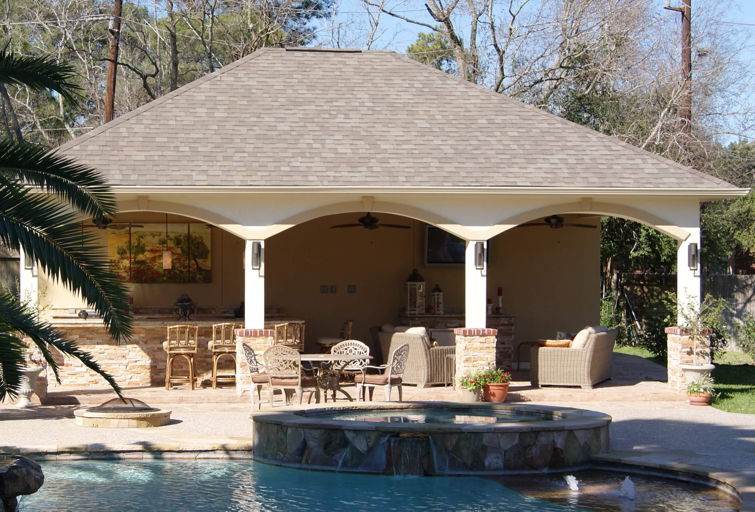 North Houston Pool Cabana - Texas Custom Patios on Cabana Designs Ideas id=29874