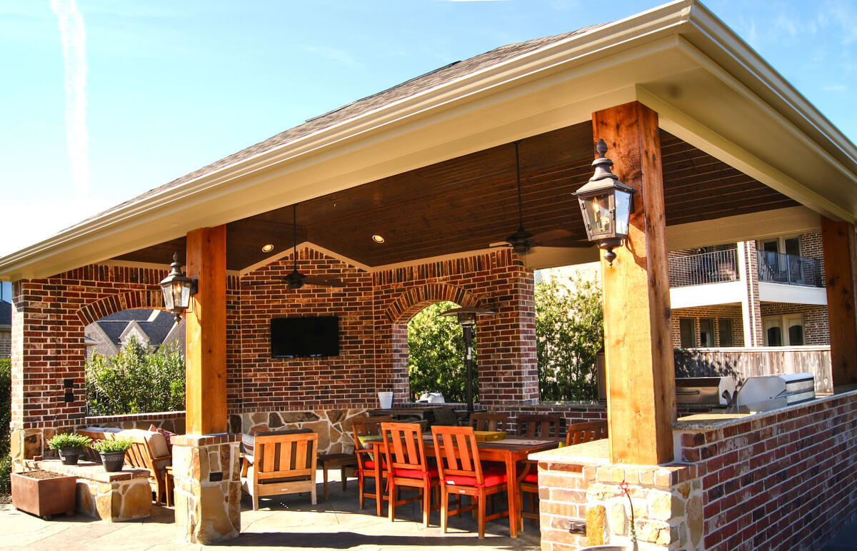Outdoor Kitchen & Freestanding Patio Cover In The ... on Patio Kitchen  id=38281