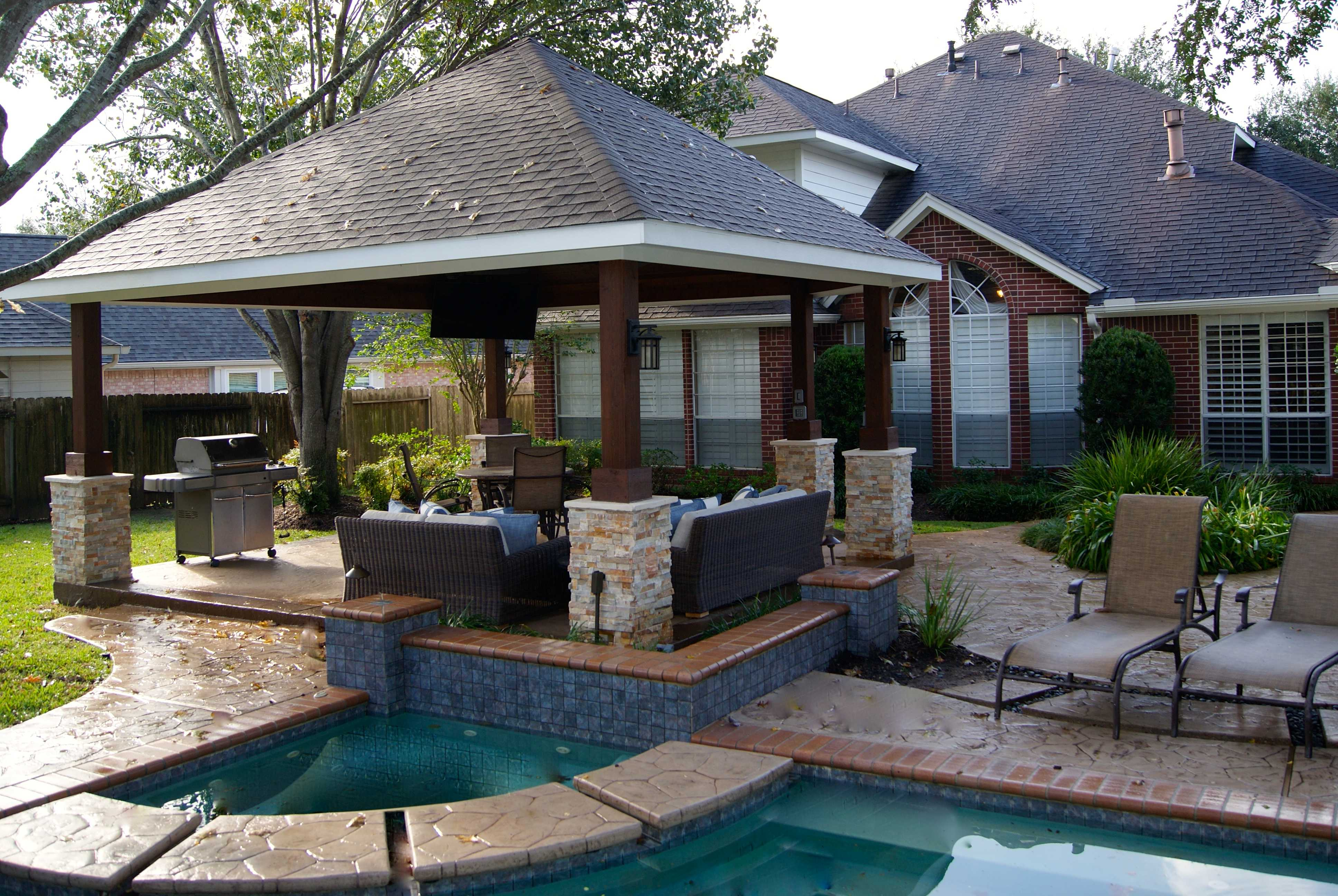 Missouri City Freestanding Patio Cover - Texas Custom Patios on Patio Cover Ideas Images id=77813