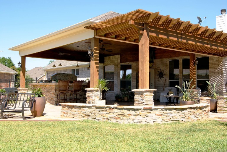 Patio Covers Houston, Dallas, Pergolas, Patio Design, Katy ... on Outdoor Living Space Builders Near Me  id=78743