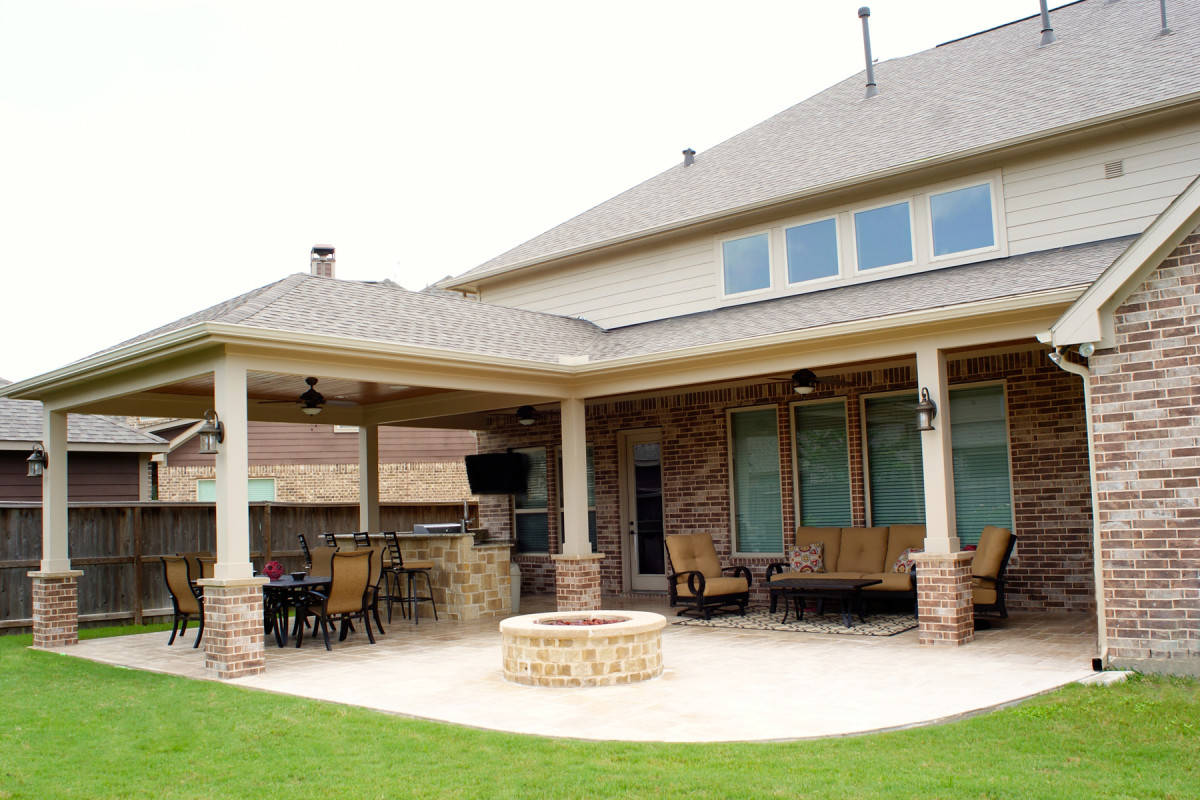 Patio Cover Katy - Cinco Ranch West - Texas Custom Patios on Back Deck Ideas For Ranch Style Homes  id=91784