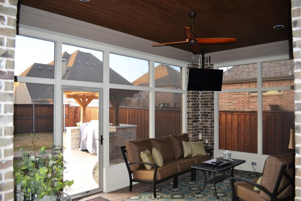Screened In Porch In The Colony Texas Custom Patios