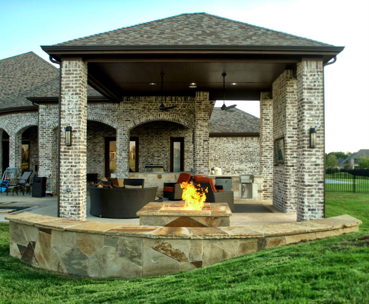 Outdoor Living Space Dallas Area - Parker - Texas Custom ... on Covered Outdoor Living Area id=24951