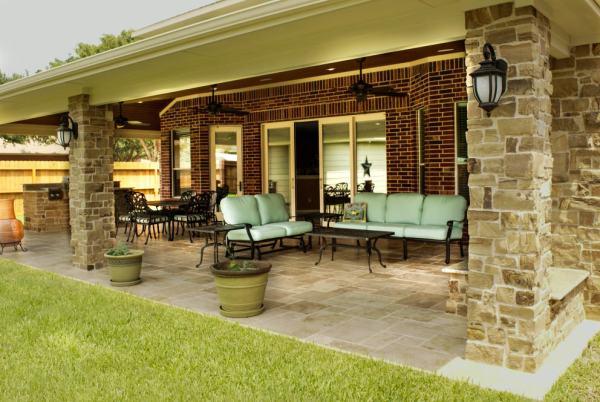 texas outdoor living covered patios Gable Roofs Houston, Dallas & Katy - Texas Custom Patios