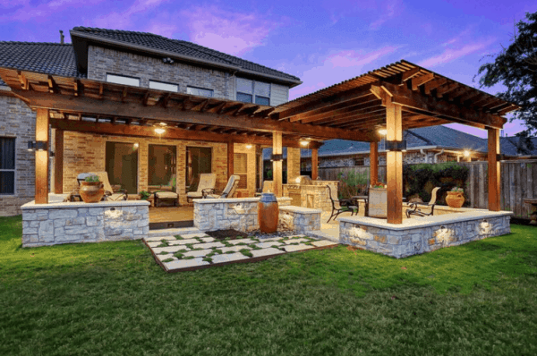 texas outdoor living covered patios Project of the Month Archives - Texas Custom Patios