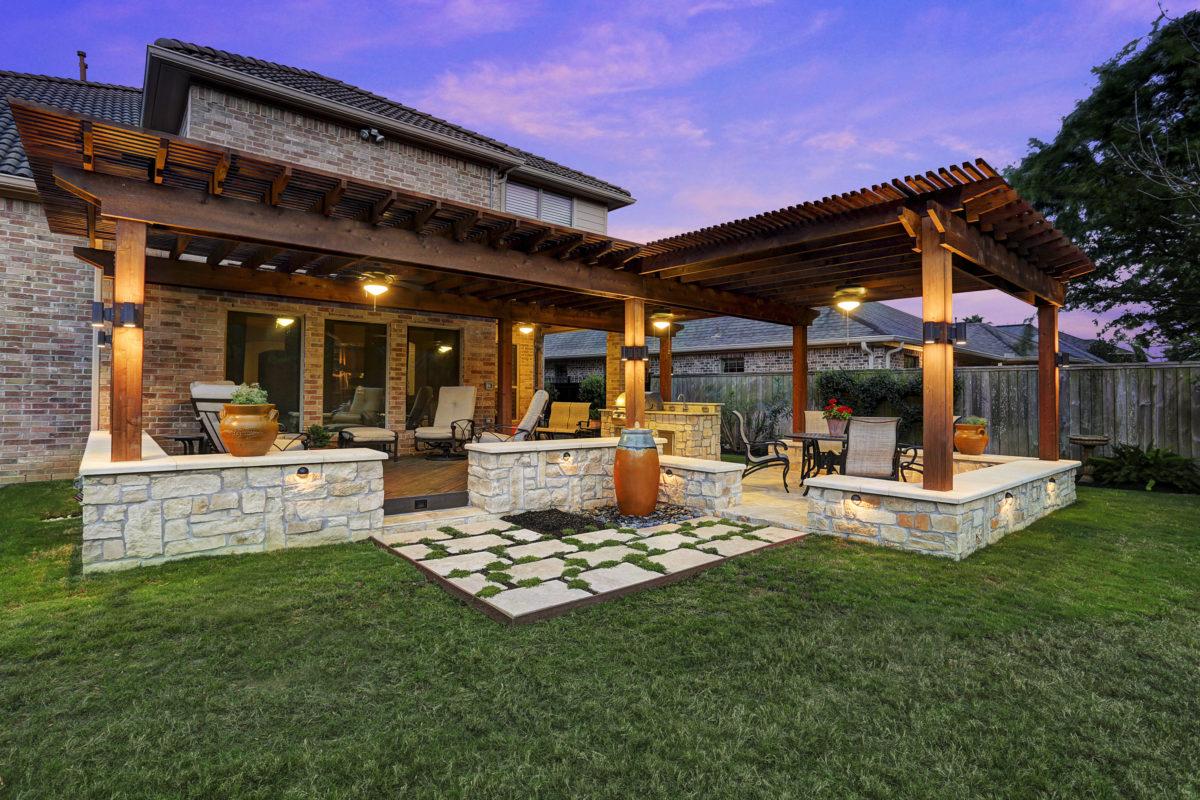 Pergola in Royal Oaks - Texas Custom Patios on Backyard Patio  id=23286