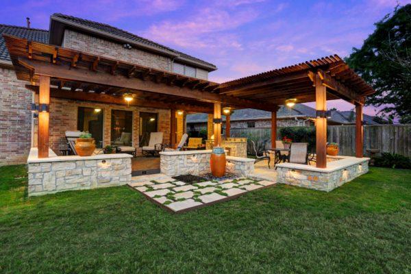 custom outdoor patio design Patio Covers Houston, Dallas, Pergolas, Patio Design, Katy
