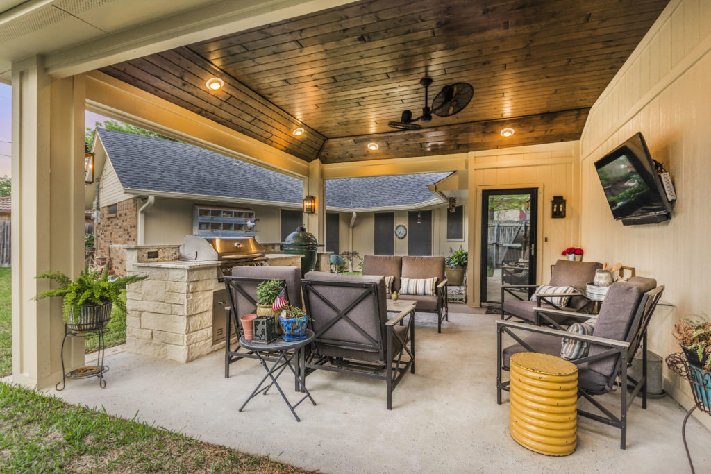 Patio Cover and Outdoor Kitchen in Grand Prairie - Texas ... on Outdoor Kitchen Patio  id=59846