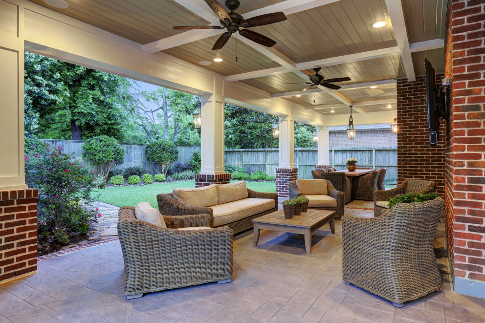 Traditional Patio Cover - Spring Valley, Houston - Texas ... on Backyard Patio Cover Ideas  id=66669