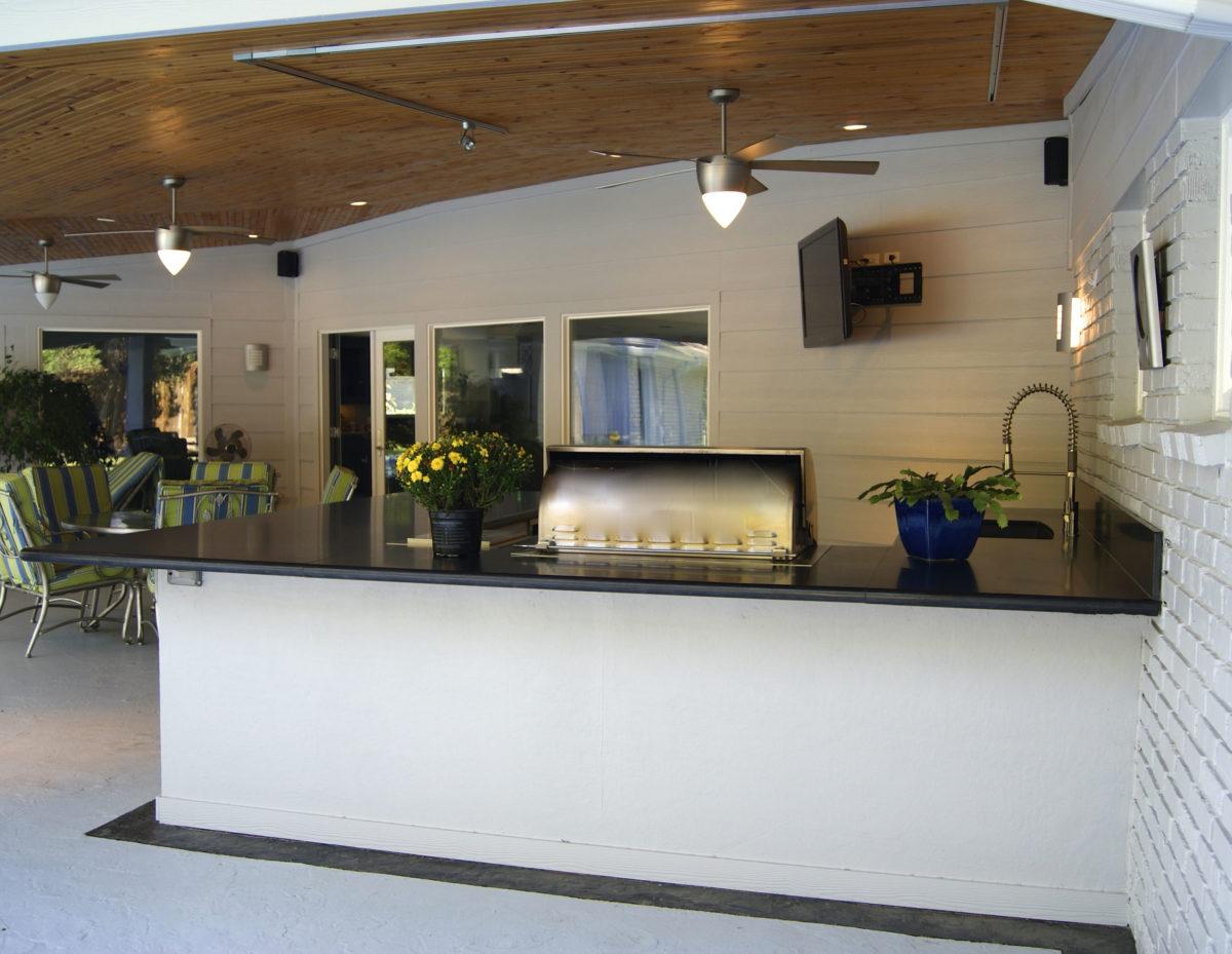 Modern Outdoor Living Room in Hunters Creek - Texas Custom ... on Designer Outdoor Living  id=74441