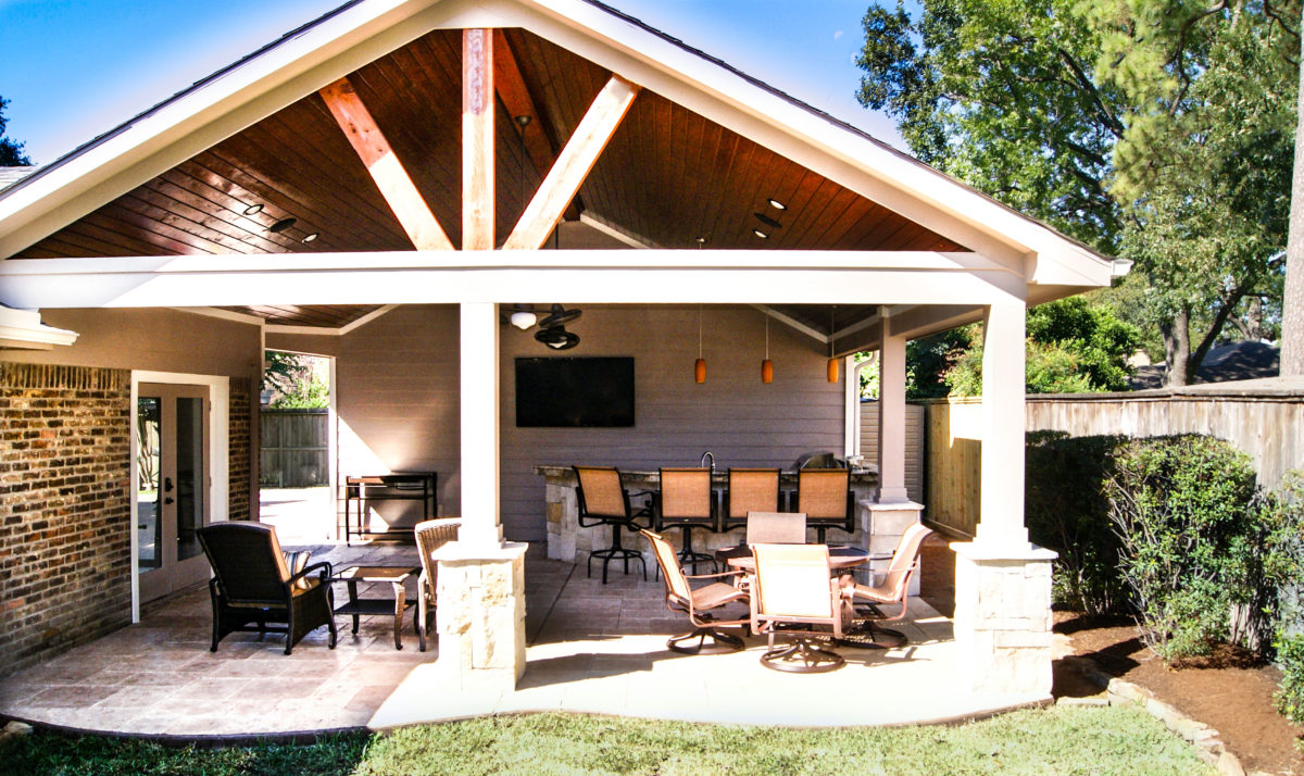 Patio Cover and Kitchen - Spring Valley, Houston - Texas ... on Patio Kitchen  id=41091