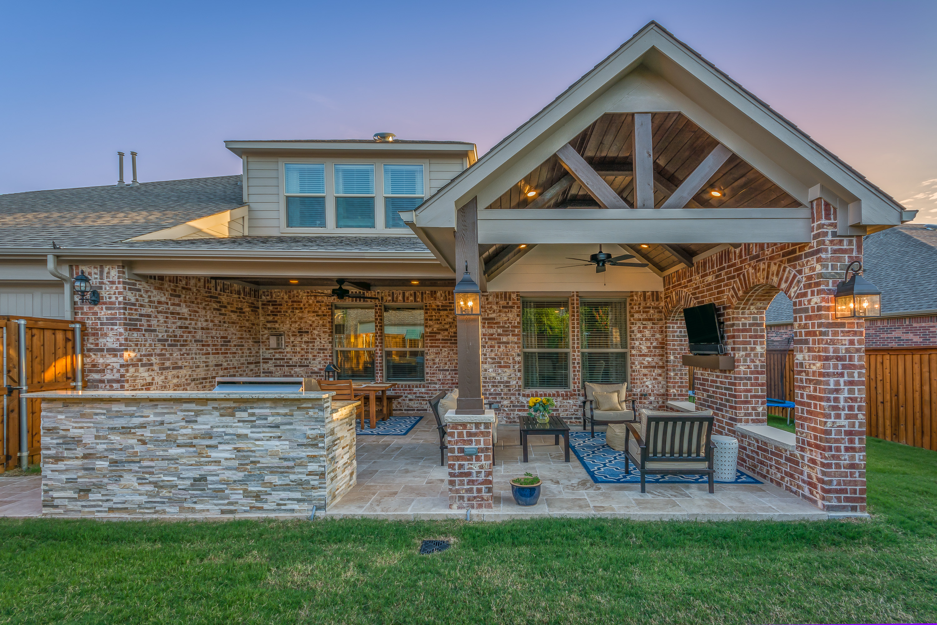 Updated Outdoor Living Area and Kitchen in Allen - Texas ... on Covered Outdoor Living Area id=47601