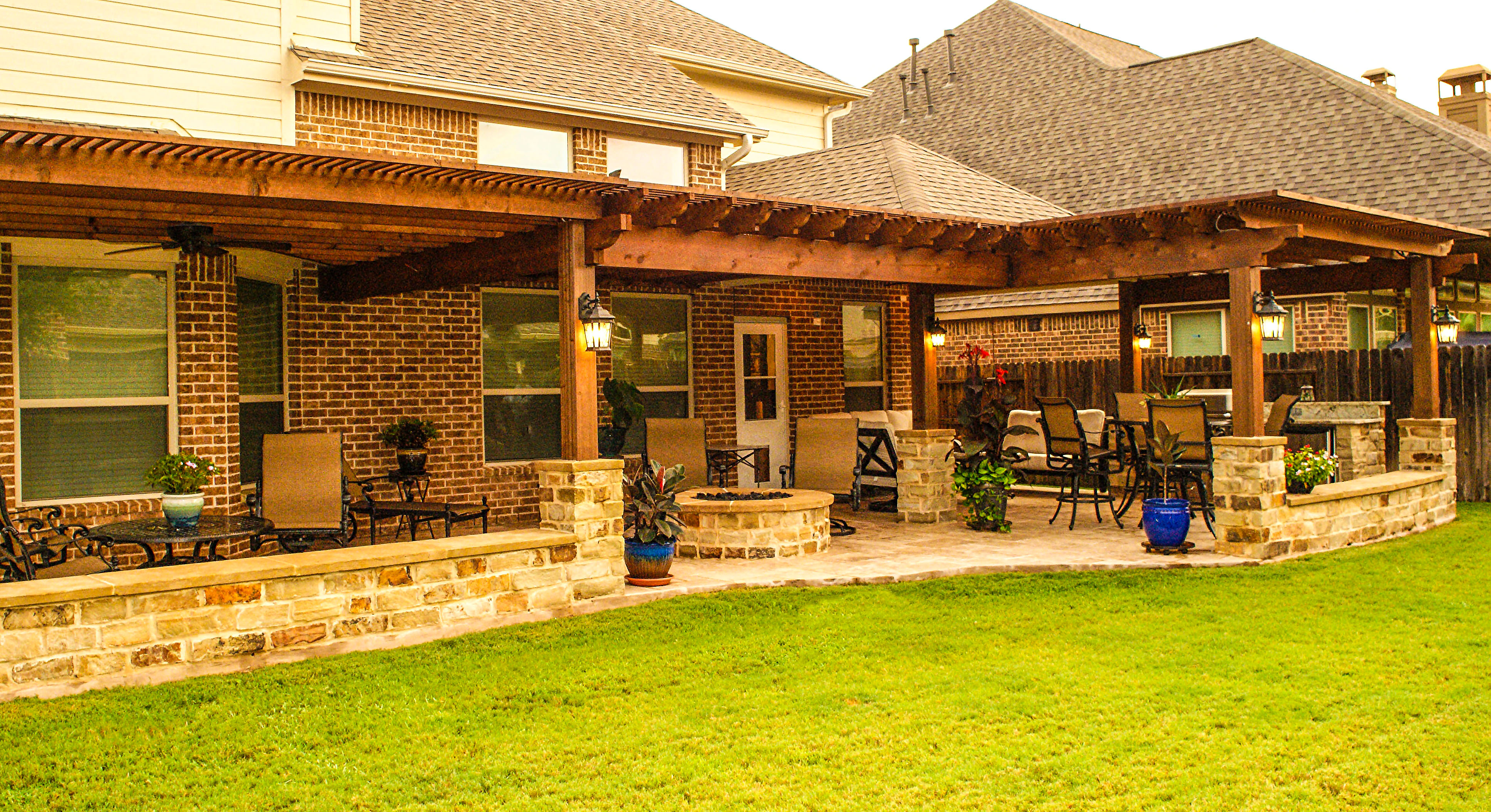 Cinco Ranch, Katy Backyard Retreat - Texas Custom Patios on Back Deck Ideas For Ranch Style Homes  id=30632