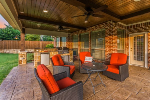 texas outdoor living covered patios Patio Cover and Outdoor Kitchen in McKinney - Texas Custom