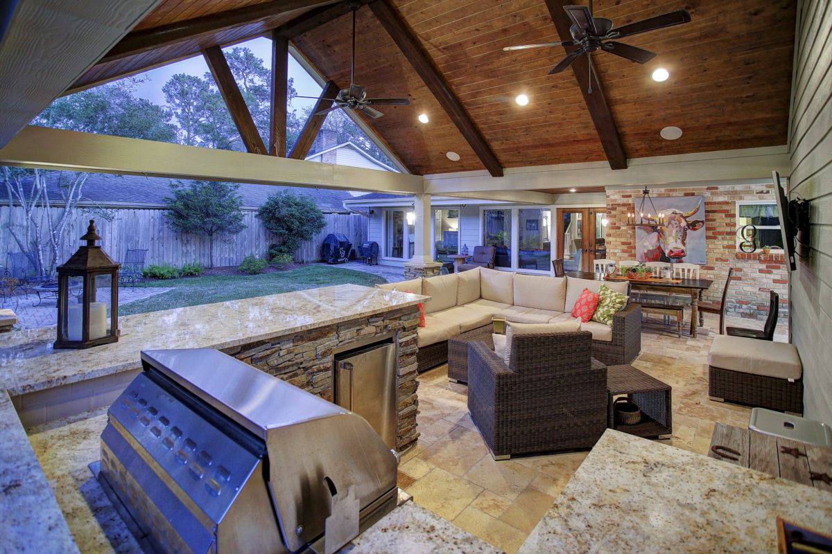 best outdoor living covered patio - Texas Custom Patios on Best Backyard Patio Designs  id=22105