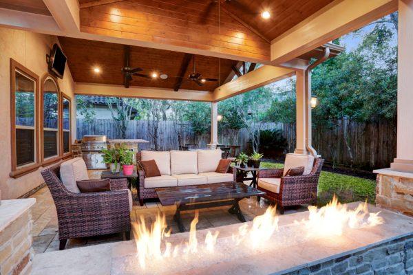 texas outdoor living covered patios Memorial Area Outdoor Living Space - Texas Custom Patios