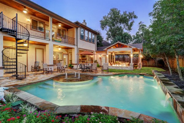 outdoor living patio and pool Memorial Area Outdoor Living Space - Texas Custom Patios