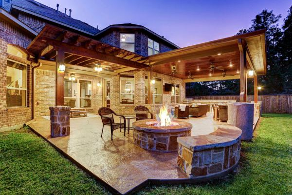 texas outdoor living covered patios Outdoor Projects Using Cedar Finishes - Texas Custom Patios
