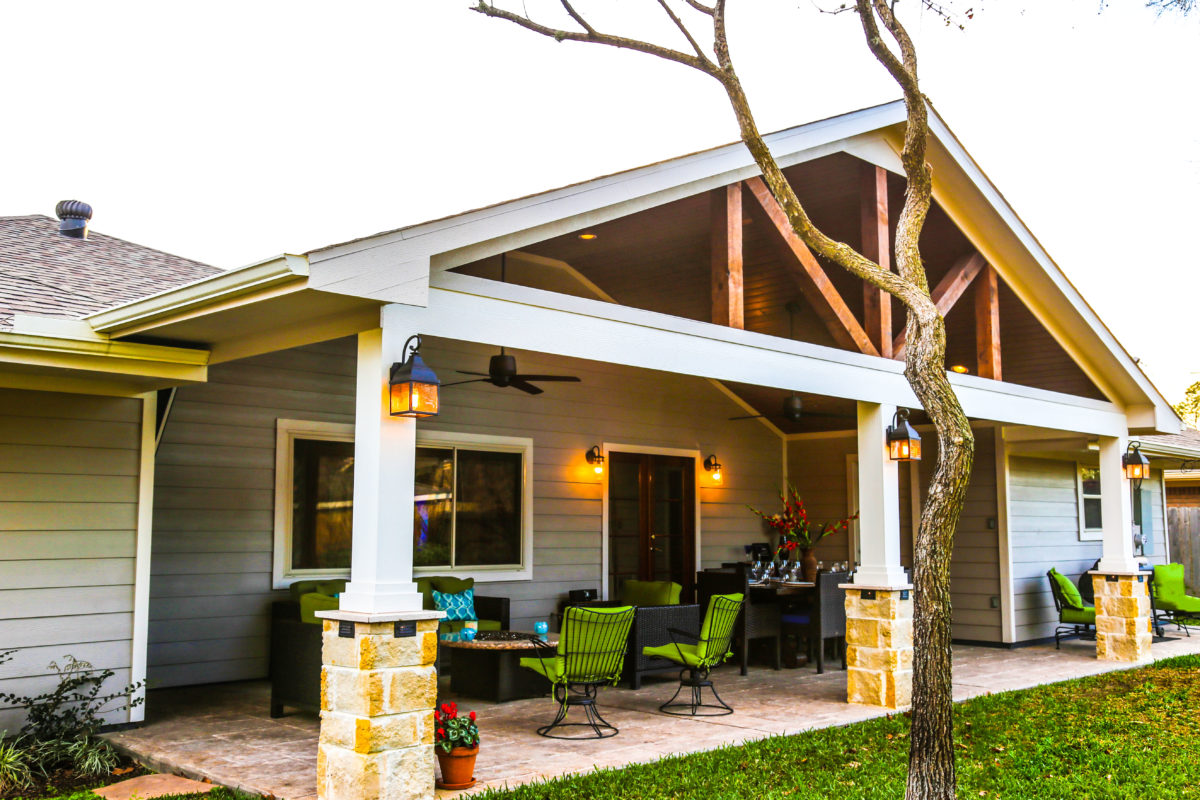 Patio Cover in Braeswood Place Houston - Texas Custom Patios on Roof For Patio Ideas id=43939
