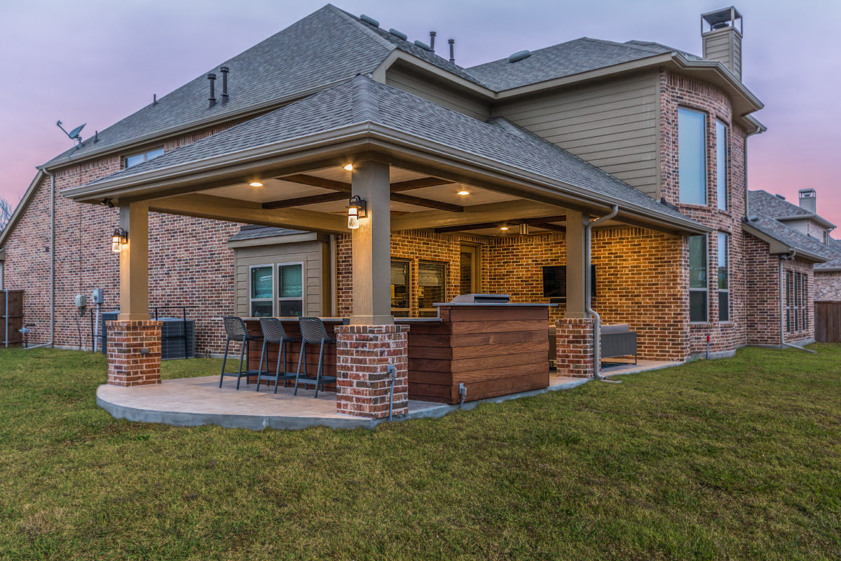 Patio Cover and Outdoor Kitchen in Coppell - Texas Custom ... on Patio Kitchen  id=20388